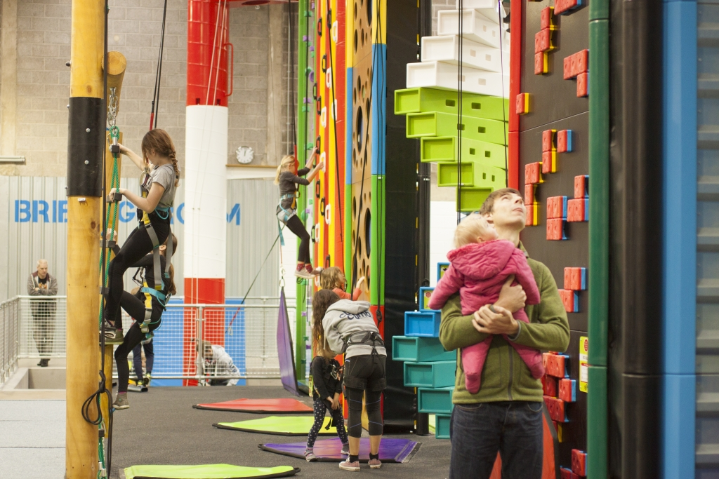 Indoor climbing at Clip 'n Climb Bristiol