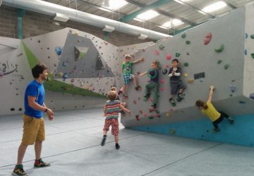 Children climbing indoors at Bloc Bristol