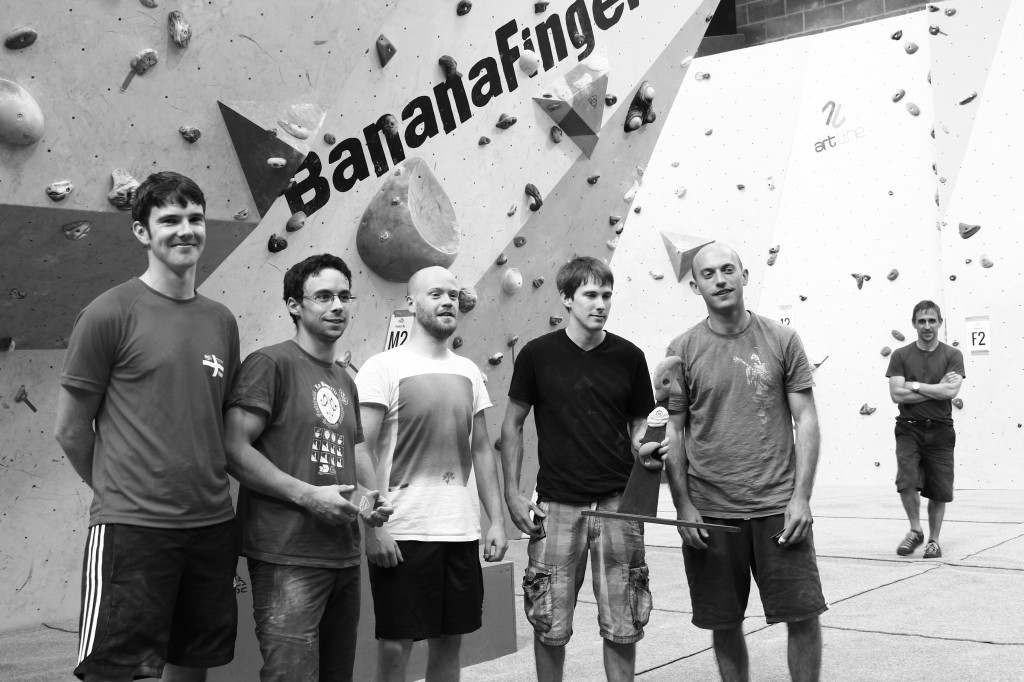 Winners at Bristols bouldering competition